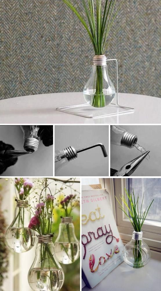 DIY Light Bulb Vase diy crafts craft ideas easy crafts diy idea crafty diy vase easy diy home crafts diy decorations craft decor craft vase diy home ideas