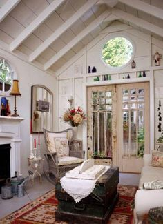 20 inspiring SHE sheds   Living the Country Life-FIREPLACE!?!?!?! YES!!!