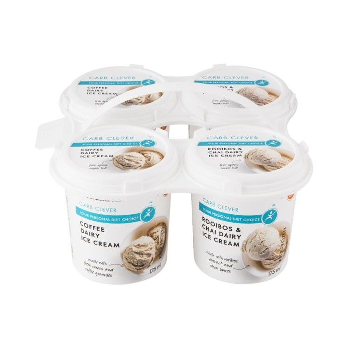 Carb Clever Dairy Ice Cream 4x175ml Woolworths Co Za Ice Cream Dairy Coffee Diet