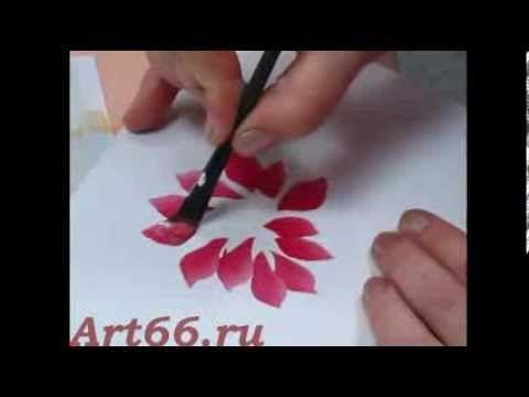 Нижнетагильская роспись. Рисуем цветы. Ольга Матукова