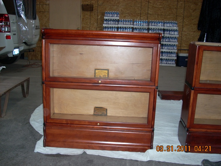 Picture Of Antique Lawyer Bookcase That Is Very Old. We Completely Restored  And Refinished 13