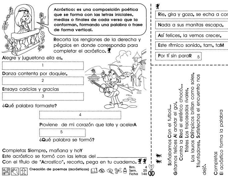 Creación de poemas (Acrósticos)