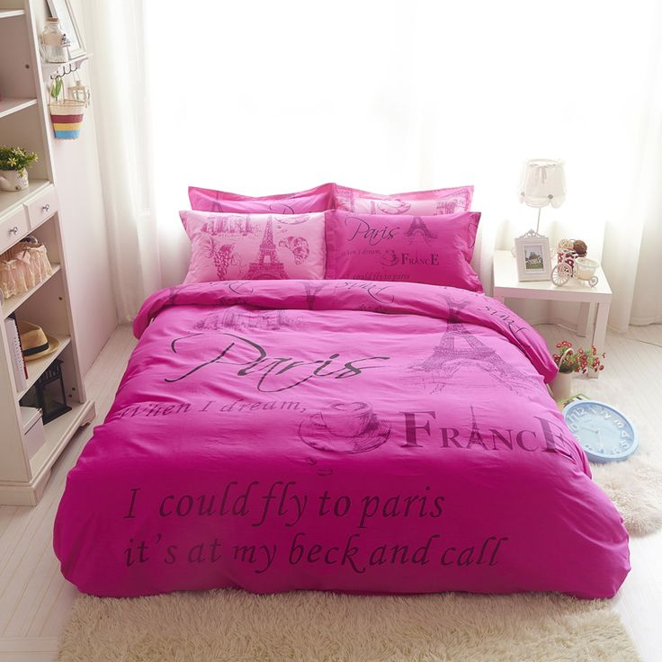 Find More Bedding Sets Information about 2016 Eiffel Tower Bedding Set Pink Beige Bedspreads Pure Cotton Bed Sheet Set Lovers Duvet Cover Queen Full Size Coverlet Sets,High Quality set cover,China set top box china Suppliers, Cheap coverlet set from Lena Small Wholesale Shop on Aliexpress.com
