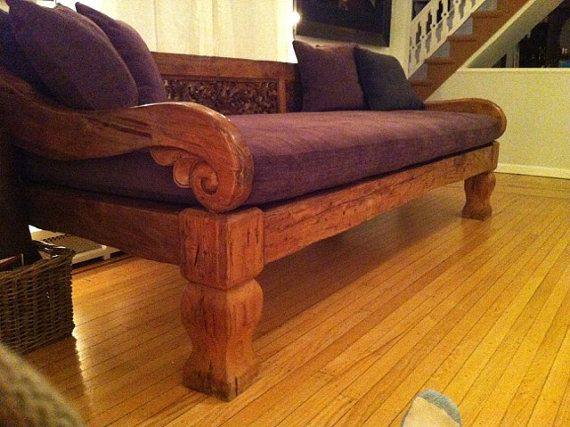 Reclaimed Teak Wood Daybed Royal by AsianWonderCreations on Etsy