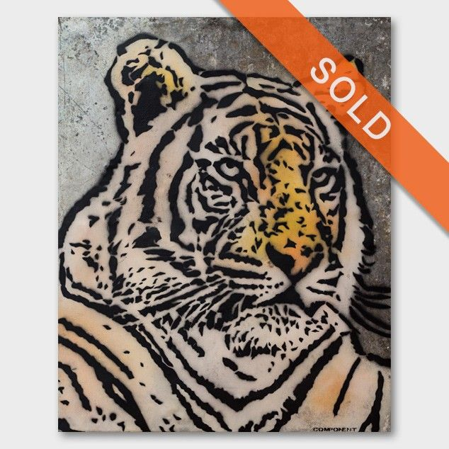 """""""Tiger"""" original painting by Component"""
