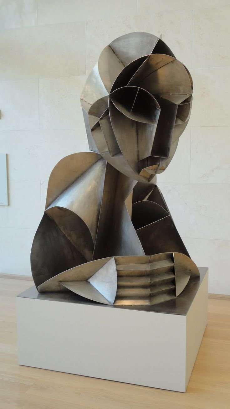 Naum Gabo. Constructed Head No. 2, 1916 (enlargement, 1975).