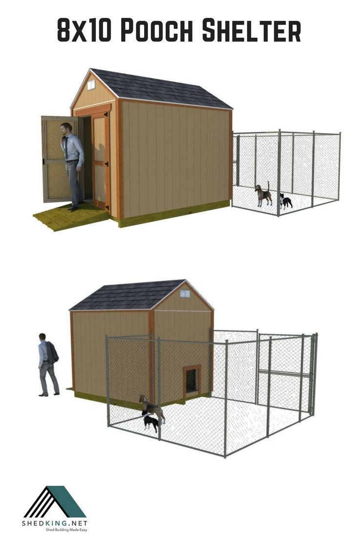 8x10 Gable Shed Plans Dog House Diy Kennel Ideas Outdoor Dog Kennel Designs