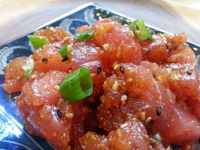 An Easy Spicy Ahi Tuna Poke Recipe - Foodista.com. Umm...YUM!