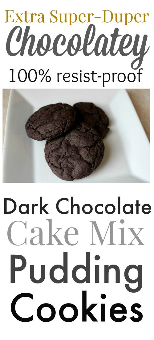 This is my FAVORITE chocolate cookie recipe, hands down! So easy to throw together with pudding mix and cake mix and always loved by everyone!
