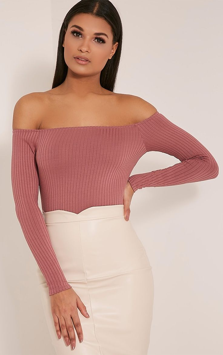 Missguided Lilith Rose Ribbed Bardot Bodysuit: In case you hadn't noticed, marshmallow pink is in. This cute little bodysuit is a great way to test out the trend. https://www.finder.com.au/editors-shopping-picks