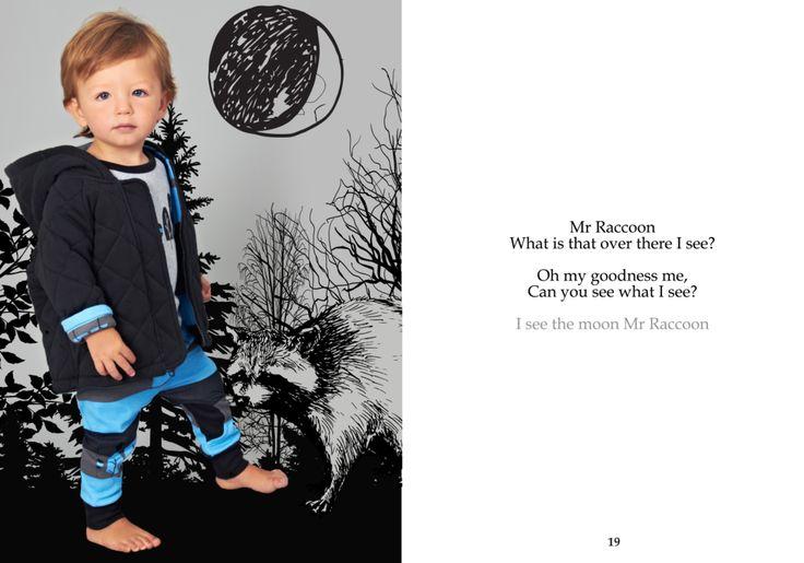 SOOKIbaby | AW'15 | Childrens Fashion | Worn by a Funky Monkey | www.sookibaby.com.au | I SEE THE MOON MR RACCOON