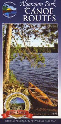 This map contains information to plan the canoe trip. Jeff's map is more detailed and comes in waterproof sections. The reverse side of this map provides detailed information  including safety information, equipment requirements, phone numbers for trip planning assistance, making reservations, and outfitters. $4.95
