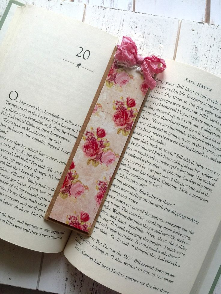 Items similar to Roses Bookmark Shabby Chic