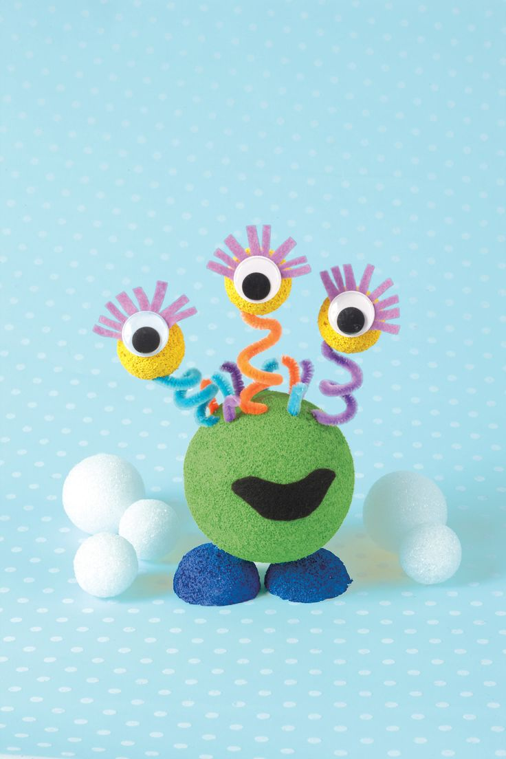 Foam ball craft - Foam Ball Monster These Steps Will Help You Complete Your Projects Supplies Get The Job