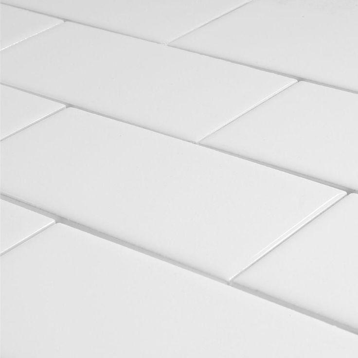 Kitchen Surround White Glossy Subway Tile 3x6 Master