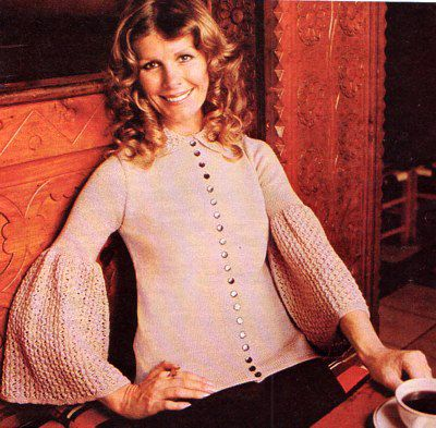 PDF Vintage 1970s Womens Ladies Knitting Pattern Period Lace