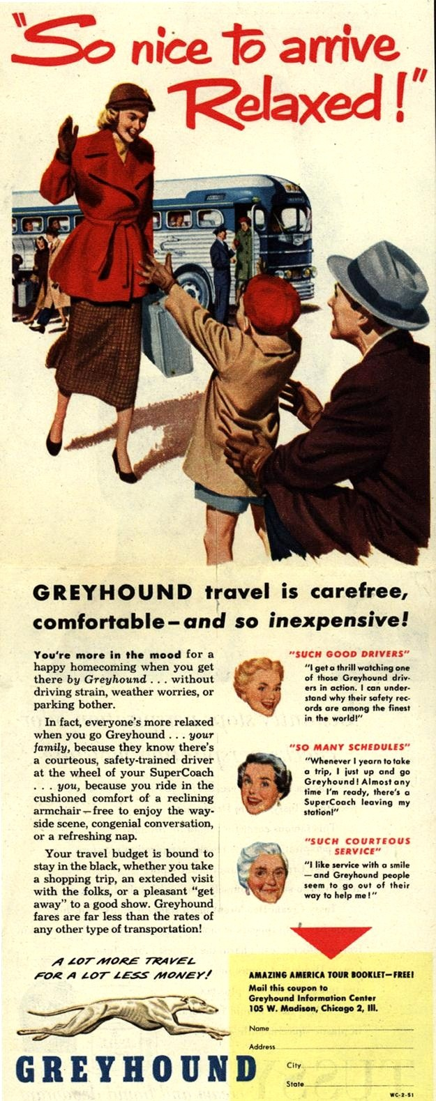 Vintage Greyhound Ad - 1951 !!!!!¡¡¡¡¡¡¡¡@@@@@.....http://www.pinterest.com/stardustretro/vintage-vacations/