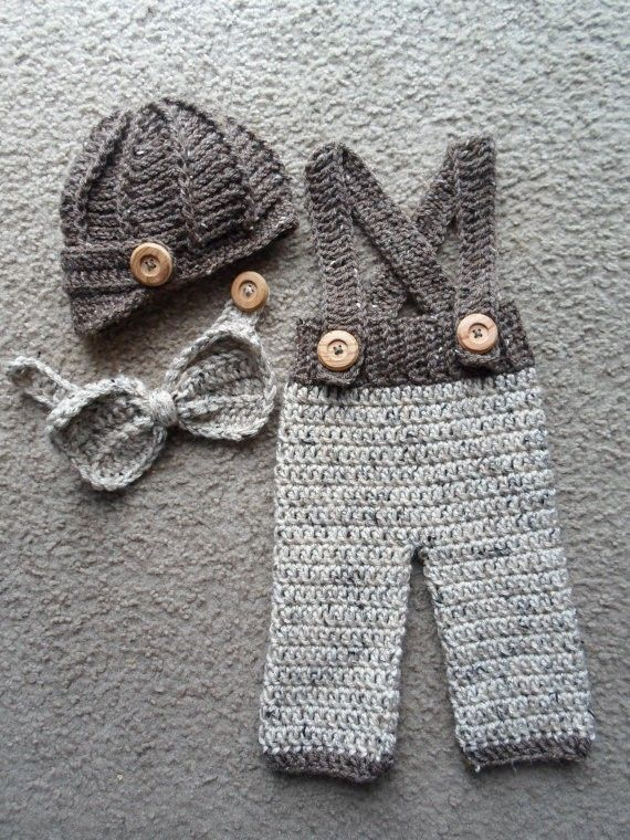 100% cotton newborn Beanies ,crochet Baby Newsboy caps,Bow tie with pants baby sets, baby hat ,Newborn crochet Photography Prop(China (Mainland))