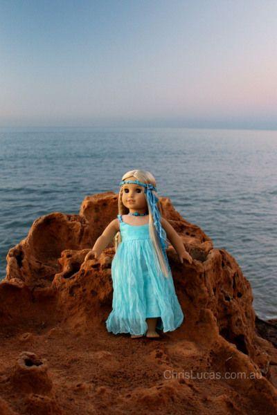 American Girl Doll Julie wearing Headband - Chris Lucas Design
