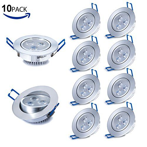 From 25.04 Liqoo 10 Pcs 3w Led Recessed Ceiling Spot Light Spotlight Lamp Warm White Ac85-265v 280-300 Lumen 2835 Smd 85 X 40mm (equivalent 30w)