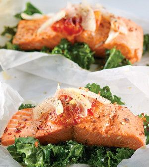 Salmon, Orange & Fennel Baked in Parchment