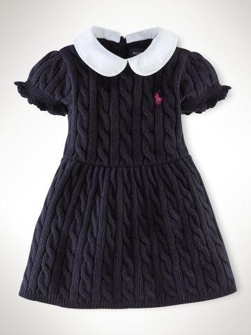 Puff-Sleeved Cable Dress - Infant Girls Dresses & Rompers - RalphLauren.com (Sale: $56.25)