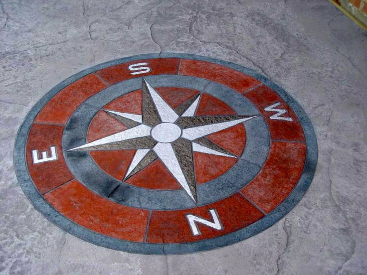 Stamped Concrete Medallions : Best images about stamped concrete on pinterest fire