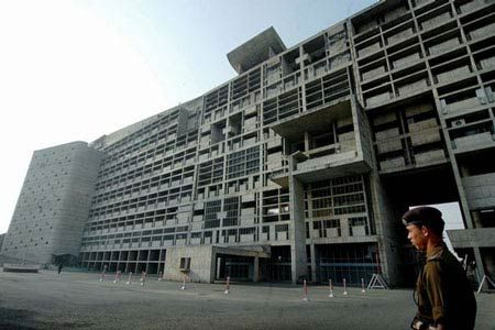 Ле Корбюзье. Le Corbusier. Здание Секретариата (Secretariat Building). Чандигарх (Chandigarh) — новая столица штата Пенджаб, Индия. 1951-1958