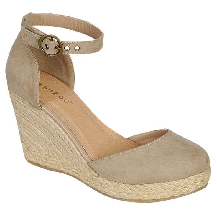"Gorgeous women's espadrille closed-toe wedges by Bamboo Tessa-01.  Product Quality: Acceptable, extremely cute Model Review: Has been running a bit big, order 1/2 size down.*** Close-toe wedge Open style, like a closed-toe sandal Approximatelly 3.25"" wedge heel, 0.75"" platform Espadrille Imported Man-made, animal/vegan friendly"
