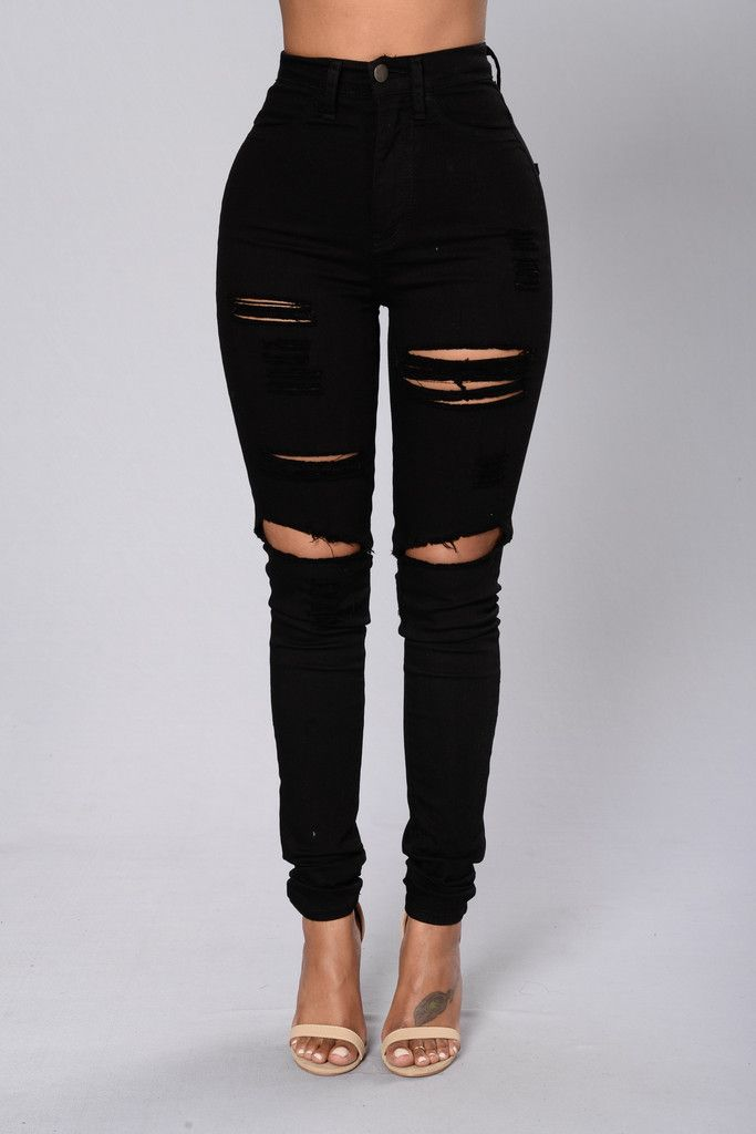 Blanched Jeans - Black 2