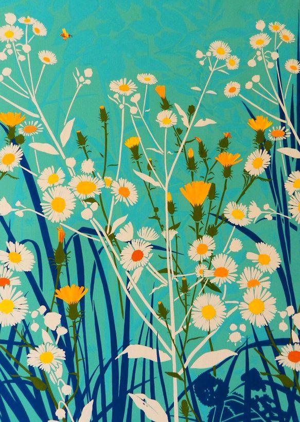「浴びる ーハルジオンー」 原画パネル張り にぎやかな街のビルの横にある空き地でもハルジオンは季節になるとグングン花を咲かせてきます。生命力が強いのに咲かせる花はとても清楚。黄色い野ゲシとよくあいます。・画材ーハイチェック紙にアクリルガッシュ 左下に鉛筆でサイン入り・パネル張りー木製パネル 裏紐付 額サイズ:728×515mm×厚み30mm(B2サイズ) 重量:1000g