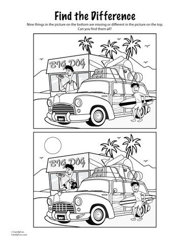 travel game find the difference printable activity for kids spoonful - Printable Activity For Kids