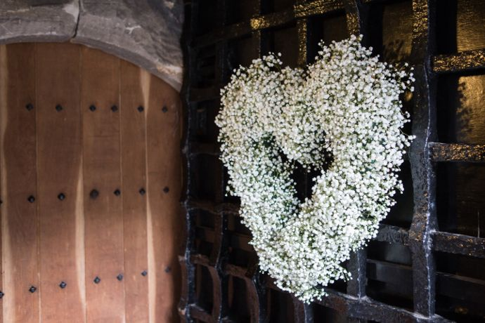 Wedding and Floral Event Styling from Planet Flowers: Catherine & Ken - Dundas Castle: Sarah Elizabeth Photography /  Gypsophila / Floral Heart