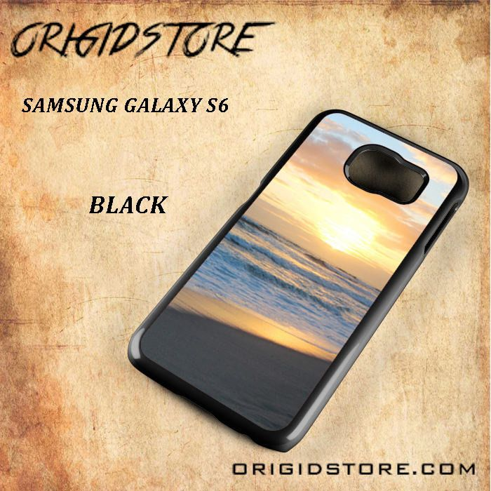 Morning At The Sea Snap On Samsung Galaxy S6 Case 3D Samsung Galaxy S6 Case Transparent Case