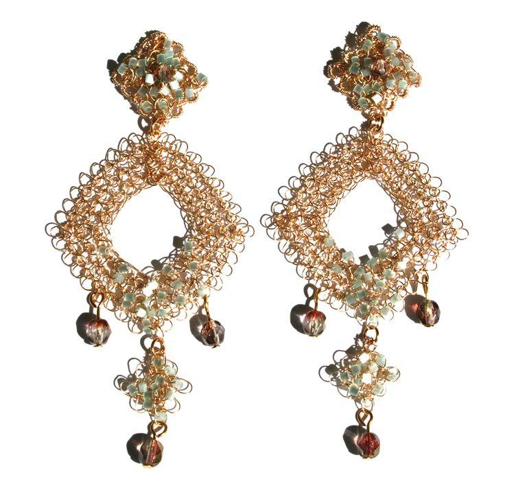 307 besten wire crochet earrings Bilder auf Pinterest | Drahthäkeln ...