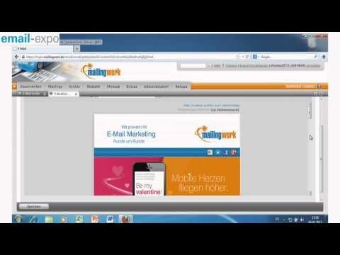 mailingwork Live-Shootout-Video von der email-expo 2013: Ein kompletter Mailingversand inklusive Ergebnisauswertung und Analyse in nur 10 Minuten!
