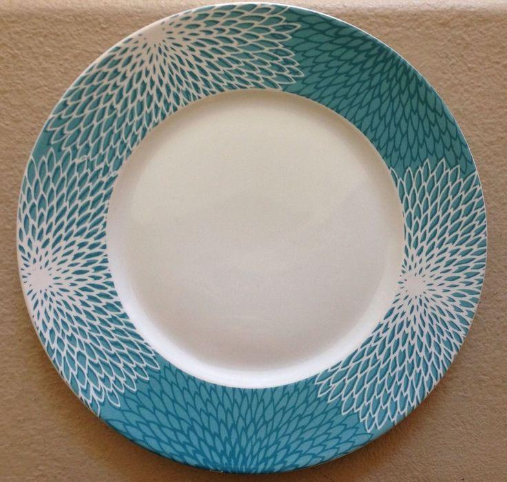 222 Fifth Astor Teal Dinner Plates Set Of 4 • $39.98
