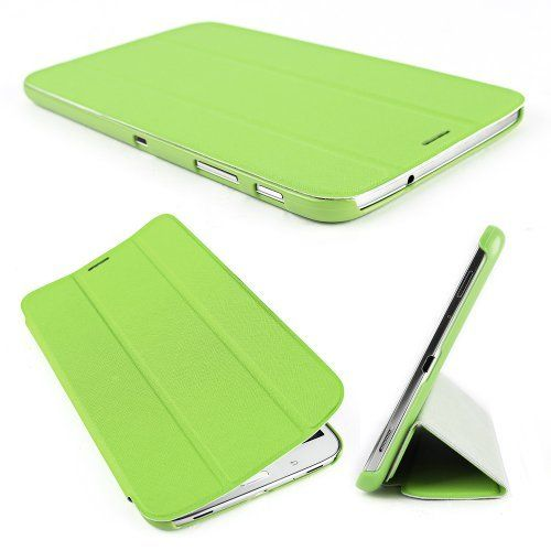 """Leather Case Smart Cover Stand Protector For Samsung Galaxy Tab 3 8.0 T310 T311 T315 Ultra 8"""" inch Tablet PC thin / slim Auto wake up & sleep Green by Surepromise, http://www.amazon.co.uk/dp/B00F2BVHO0/ref=cm_sw_r_pi_dp_iv8Lsb1YASKRG"""