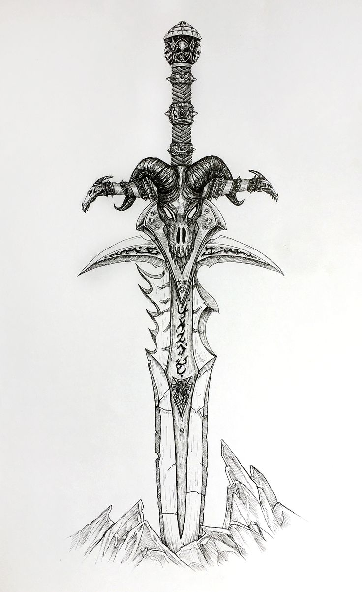 #frostmourne #sword #warcraft #drawing ##ink #pen #detailed #medieval #arthas #lich #king #blade #wow #expansion #inspiration #cursed #dragon #sindragosa #art #painting #sakura #micron #precise #lineart #tattoo #salajova #videogames #fanart
