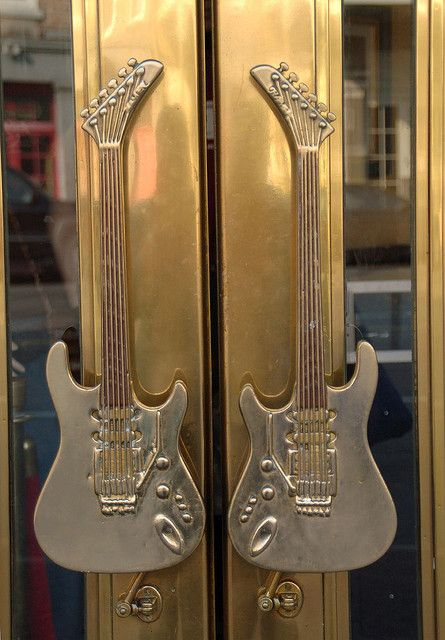 Guitar Door Handles, French Quarter Of New Orleans, Louisiana by Monceau. Have seen some wonderful examples of interesting door pull handles. These are up there for interest.