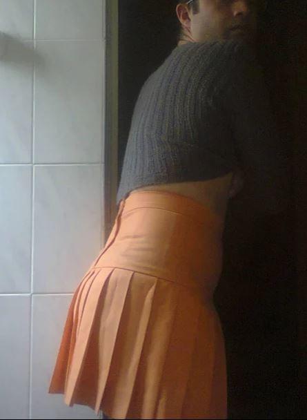 Falda plisada curuba en flanel