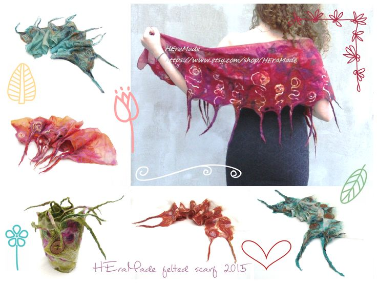 You find my felted scarves on the link below: https://www.etsy.com/shop/HEraMade?section_id=13882034&ref=shopsection_leftnav_10 #nunofelt #feltscarf #felt #merinowool @heramade