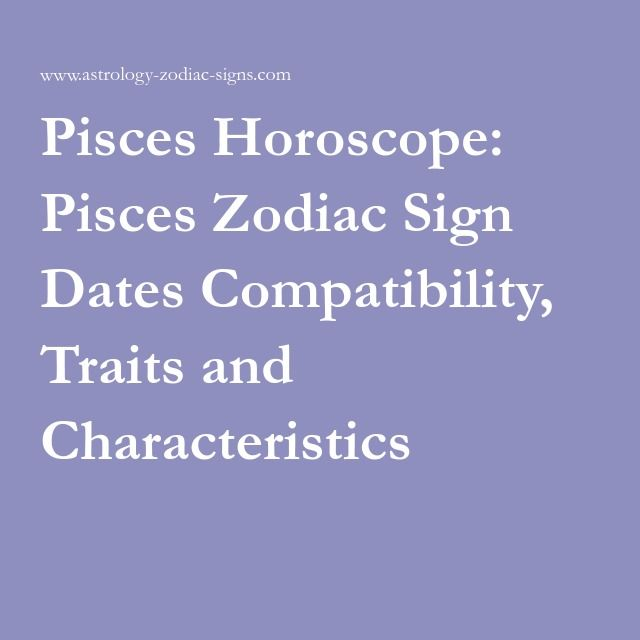 Dates for pisces