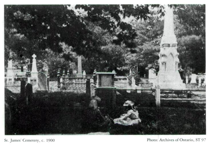 St. James' Cemetery, c. 1900