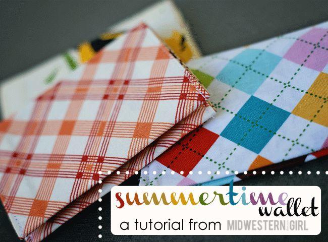 summertime wallet...a tutorial - Midwestern Girl