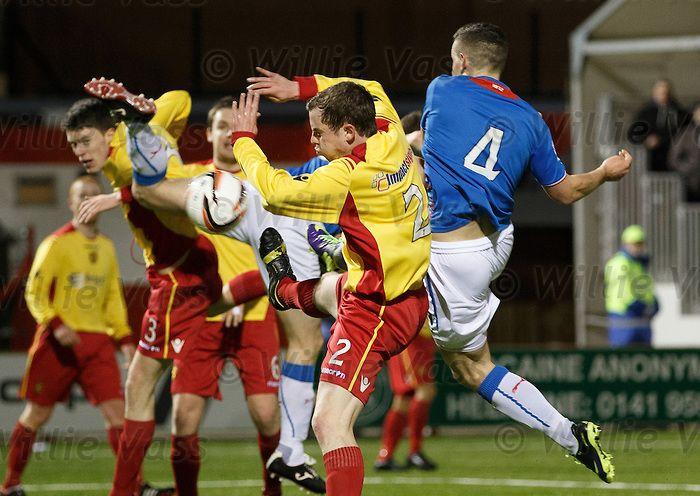 170314 Albion Rovers v Rangers  Fraser Aird scores the opener