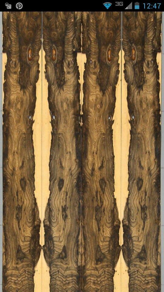 Ziricote Wood Veneer Book Matched Furniture Design