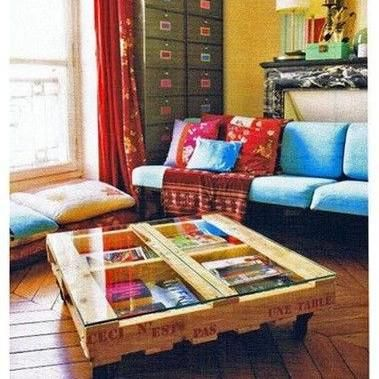 Mira estos originales muebles hechos con palets para decorar tu hogar 9