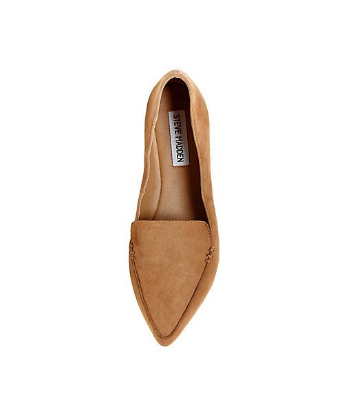 Leather Loafers with Pointed Toe