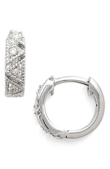 25 Best Ideas About Diamond Hoop Earrings On Pinterest